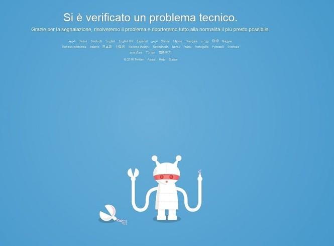 Twitter down per errore tecnico non funziona oggi 19 gennaio 2016